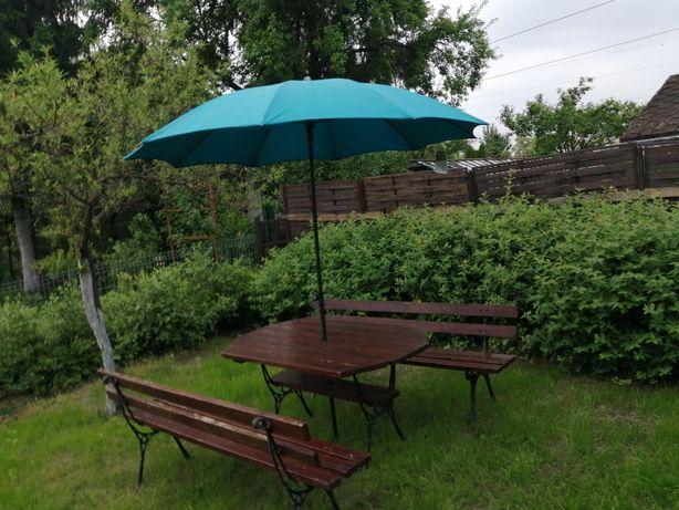Zestaw ogrodowy stół i dwie ławki na 10 osób
