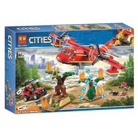 Конструктор Lari 11214 Пожарный самолёт City Лего Сити