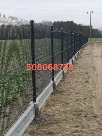 Ogrodzenia panelowe i palisadowe bramy furtki