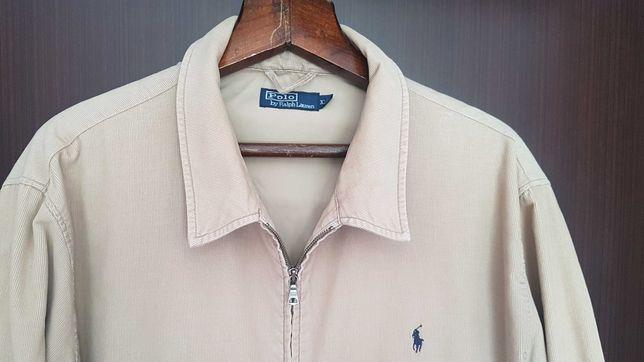 Оригинальная брендовая вельветовая куртка бомбер POLO! В идеале!