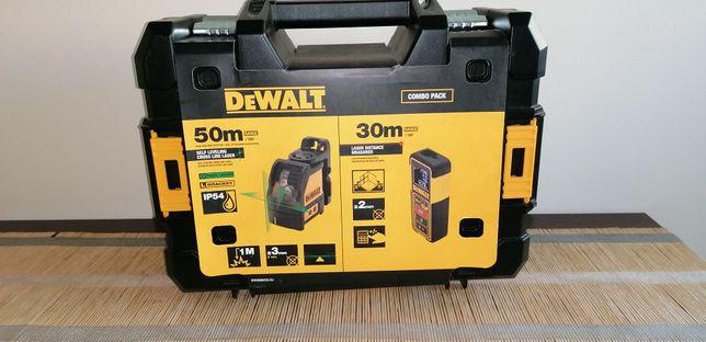 Zestaw Dewalt DW0889CG Laser krzyżowy zielony + Dalmierz