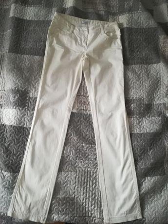 nowe białe długie spodnie Pimkie wiosenne/letnie 34/36