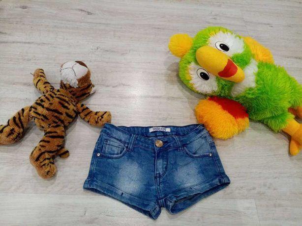 Невероятные джинсовые шорты на девочку 5-8 лет