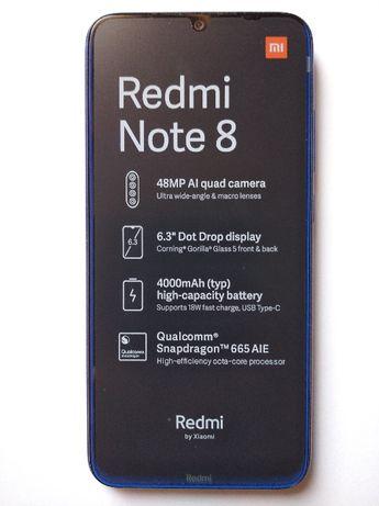 Telefon Xiaomi Redmi Note 8 Neptune Blue 4/64 GB NOWY wysyłka olx