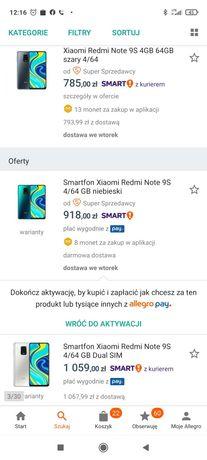 Redmi Note 9S 64BG