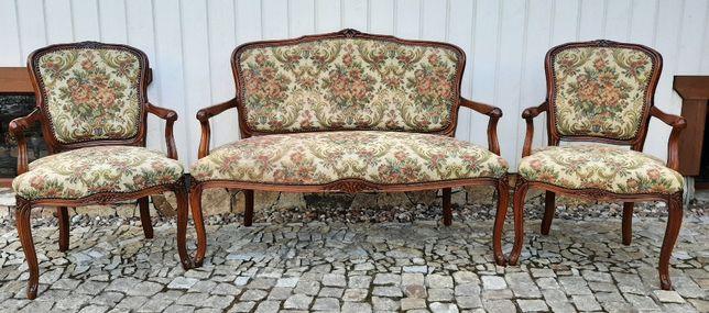Stylowy komplet - 2 fotele + sofka 2 osobowa