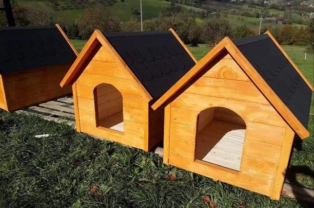 Budy dla psa drewniane