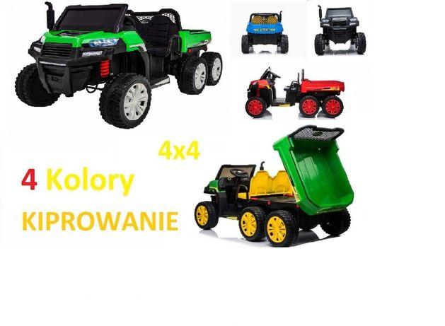 Samochód auto na akumulator traktor Farmer 4x4 +Dwuosobowy +Kiprowanie
