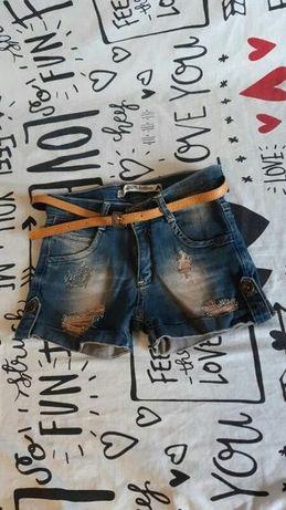 Джинсовые модные шорты для девочки рост 146