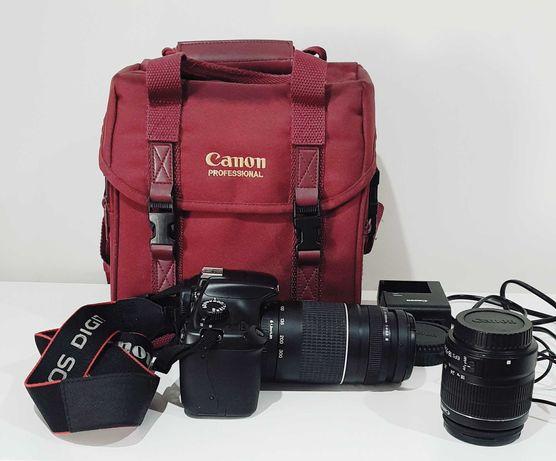 Canon EOS 1100D + 2 objetivas. Grande oportunidade!