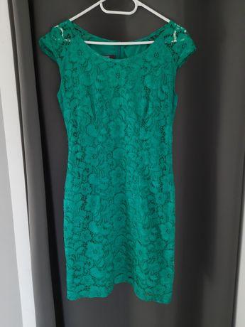 Sukienka koronkowa, zieleń, rozm 40, komunia, chrzest, wesele