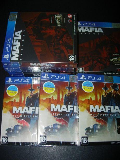 Mafia Trilogy Русские Диски для PS4 Mafia Definitive Edition В Наличии