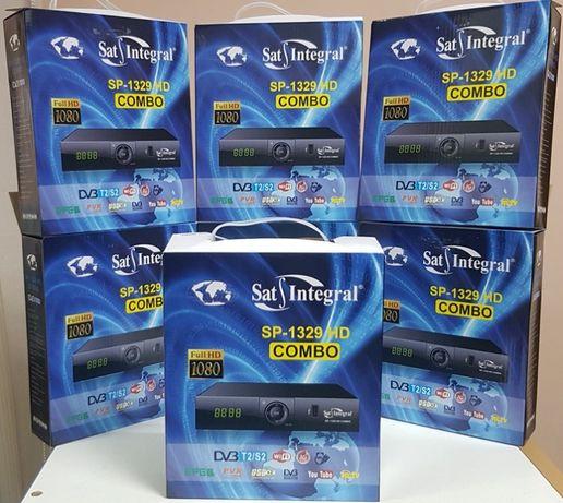 НОВЫЙ Комбинированный Mpeg4 DVB-T/T2/S2 Sat Integral SP-1329 HD COMBO