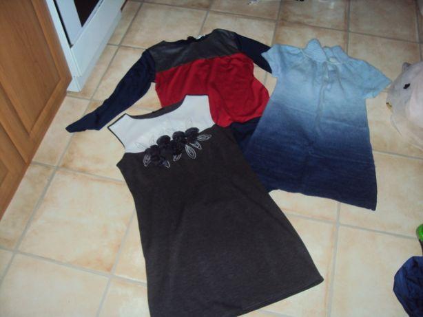 Sukienka sukienki tunika każda po 20 zł, wszystkie 50 zł kamizelka