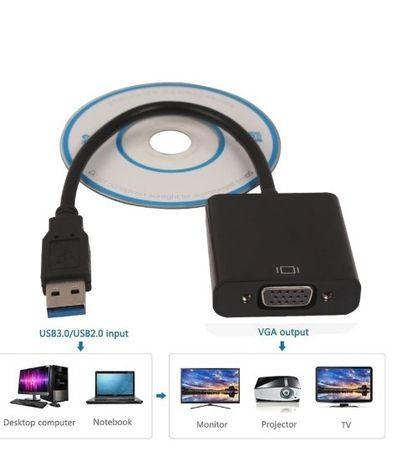 Внешняя видеокарта USB 3.0 (совместима с 2.0) в VGA (Новая)