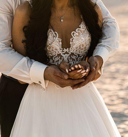 Suknia ślubna Flossmann, nowy welon gratis.