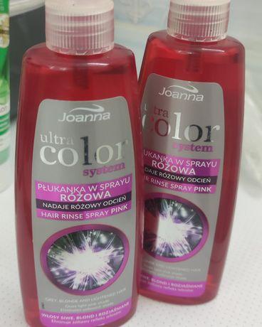 Joanna Спрей тонирующий для осветленных волос Розовый отеннок бальзам