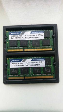 Оперативная память TIMETEC 16Gb DDR3L 1600MHz 1.35V CL11 2Rх8
