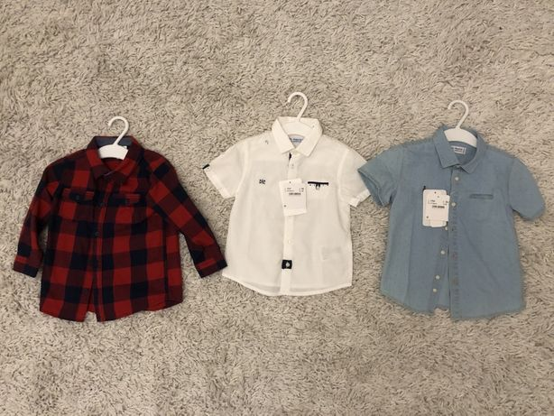 Koszule dla chłopca 18-24m 86-92