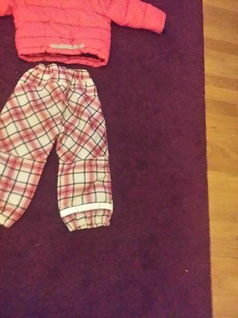 Kurtka spodnie ocieplane 98