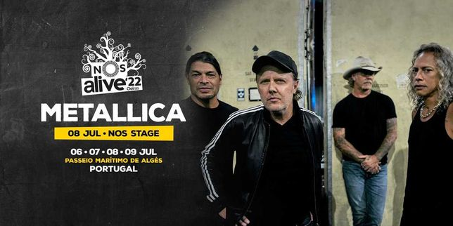 Bilhete NOS ALIVE'22 8 Jul 2022 (Metallica)