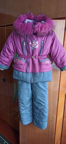 Зимний комбинезон для девочки, теплая курточка