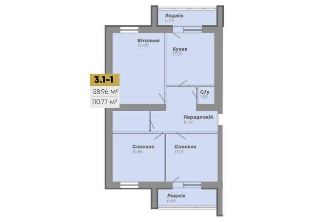 Продажа 3х комнатной квартиры 110.77 кв.м в ЖК CENTRAL HOUSE