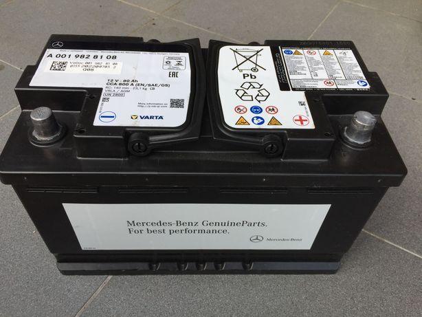 Bateria original Mercedes Varta 80 A Start-Stop AGM/VRLA meio ano uso