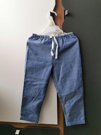 Spodnie cienkie eleganckie 92/98 nowe