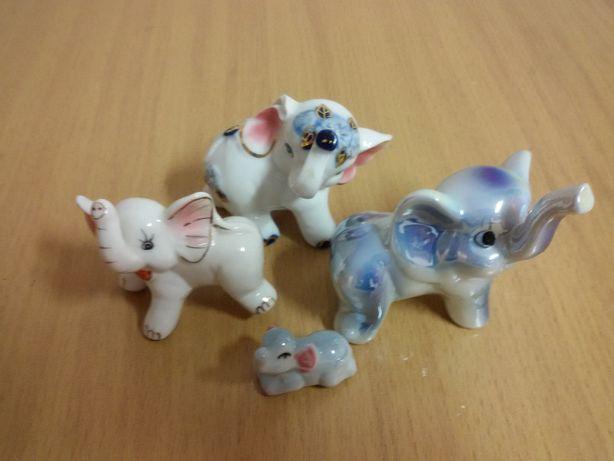 Słoniki porcelanowe