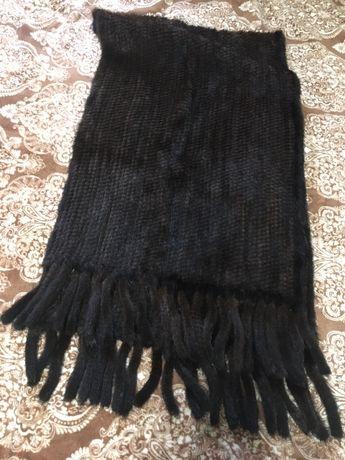 Норковый шарф болеро накидка