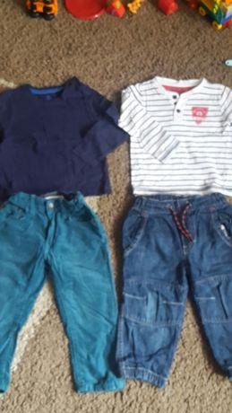 Bluzki spodnie 86-92 cm