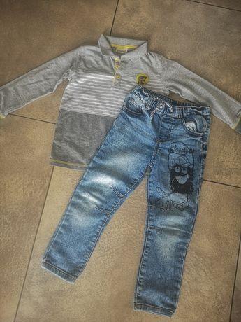 Zestaw 110 chłopiec bluzka spodnie
