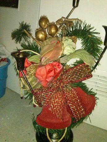 duży świecznik wysokość 55 cm- kolekcja bożonarodzeniowa na 3 świece
