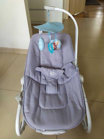 leżaczek niemowlęcy Kinderkraft szaro niebieski