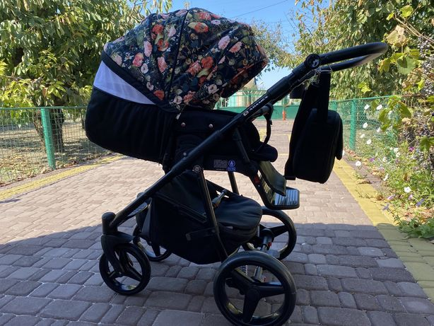 Детская коляска Adamex Reggio Flowers 2в1 ОТЛИЧНОЕ СОСТОЯНИЕ