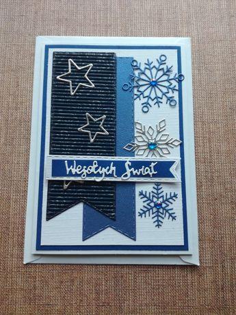 Kartki świąteczne bożonarodzeniowe ręcznie robione