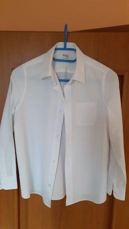 Koszula biała długi rękaw 152