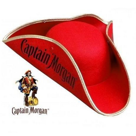 Oryginalny kapelusz Pirata Kapitan Morgan Czapka piracka!!