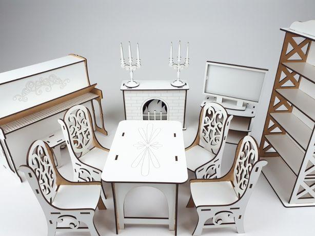 Комплект деревянной кукольной мебели для кукол высотой 25-30см Игрушки