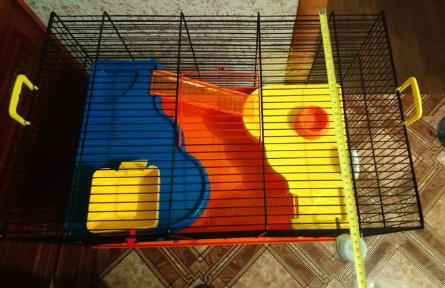 Клетка для грызунов (ширина 38см, высота 36см, длина 57см)