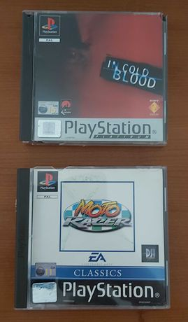 Jogos PS1 In Cold Blood e Moto Racer