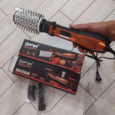 Фен щетка. Для волос с вращающимися насадками. Gemei GM-4828