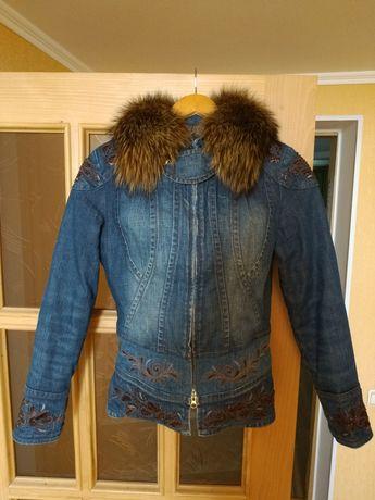 Куртка с мехом gizia