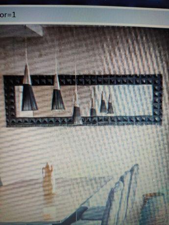 Espelho de parede, tipo quadro, 1,90mx61cm