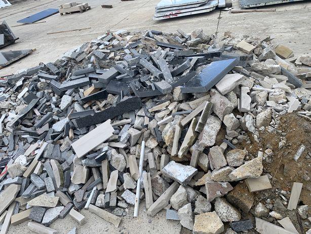 Gruz odpad granitowy oddam