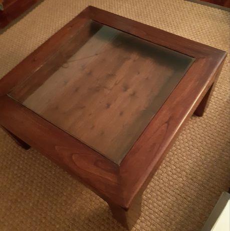 Mesa com gaveta para frente sofá