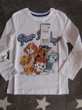 NOWA bluzka tshirt koszulka palomino c&a psi paw patrol 116 metka