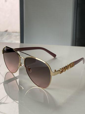 Okulary Chanel przeciwsloneczne cieniowane aviatorki pudrowy róz.nowe
