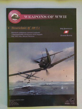 Model Kartonowy do sklejania MESSERSCHMITT Bf 109 T-1